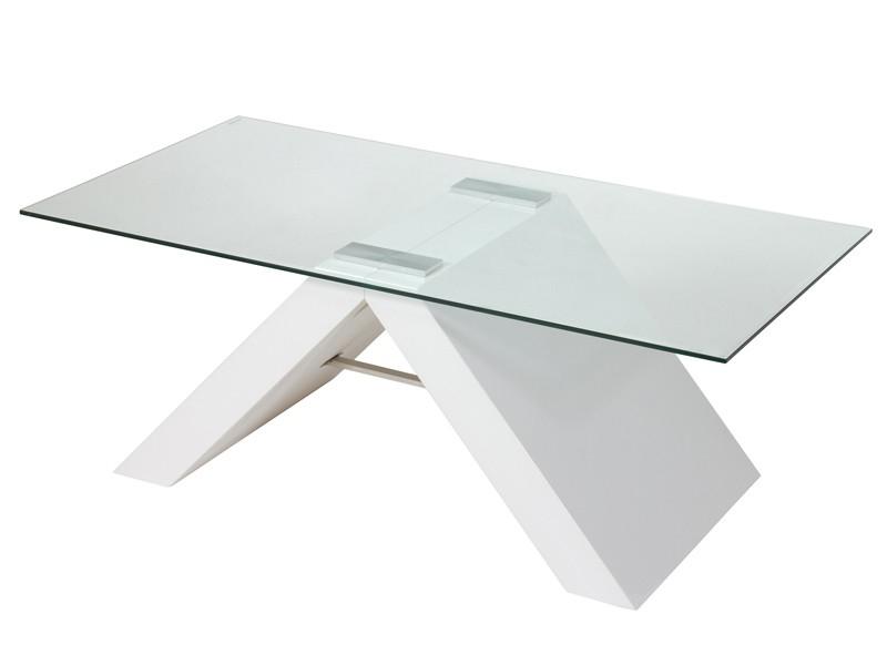 Mesa Centro Moderna Bqdd Mesa De Centro Moderna De Cristal Y Mdf Color Blanco