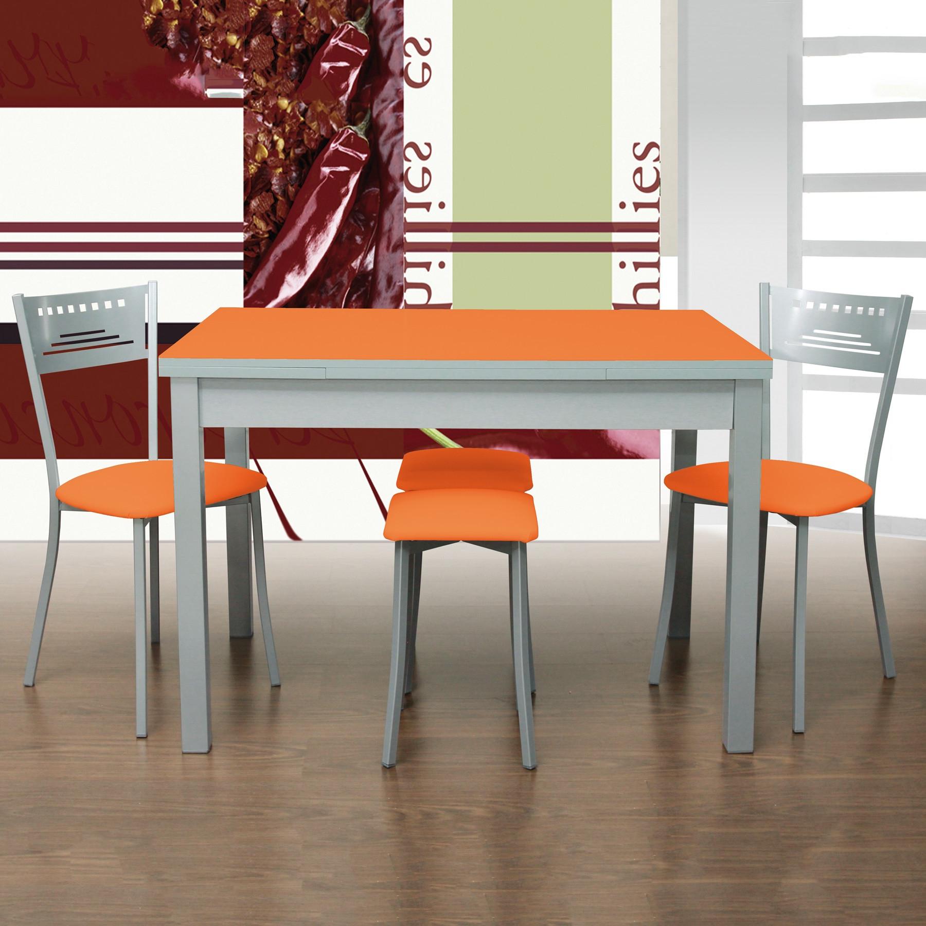 Mesa Cocina Con Taburetes 8ydm Pack Mesa De Cocina Sillas Y O Taburetes Mod orange