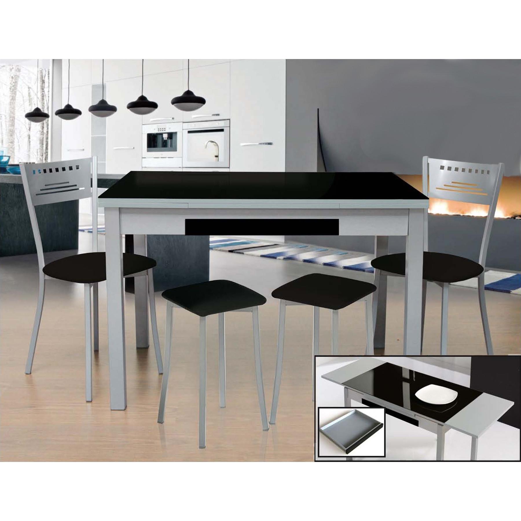 Mesa Cocina Con Taburetes Bqdd Conjunto De Mesa Extensible Sillas Y Taburetes De Cocina Modelo Moon