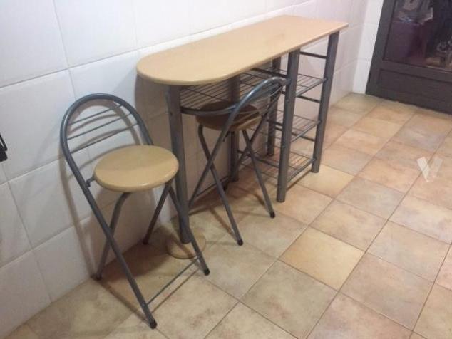 Mesa Cocina Con Taburetes Tldn Mesa Auxiliar De Cocina Con 2 Taburetes En Valencia ã Ofertas Enero