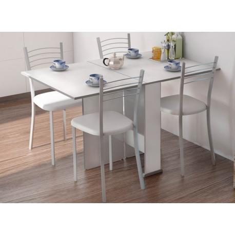 Mesa Cocina Dddy Conjunto Mesa Cocina Alas Abatibles Swing Y 4 Sillas Gida Blancas
