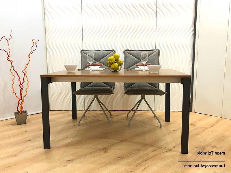 Mesa Cocina Madera Tldn Mesa Cocina Moderna Extensible Txindoki 130×70 Cm