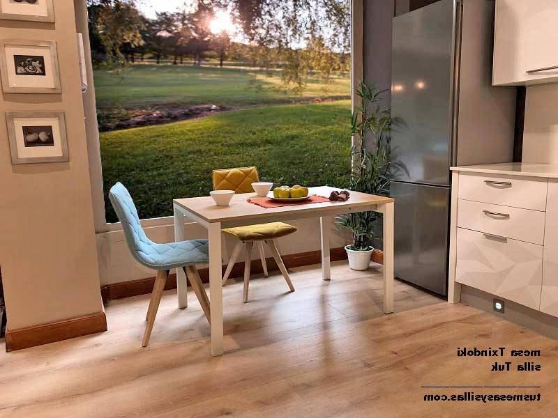 Mesa Cocina Madera Txdf Mesa Cocina Txindoki Cuadrada Extensible 100×100