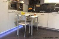 Mesa Cocina Pequeña Zwdg Mesa Cocina Pequeà A Extensible Florencia Con Un Fondo Reducido Y