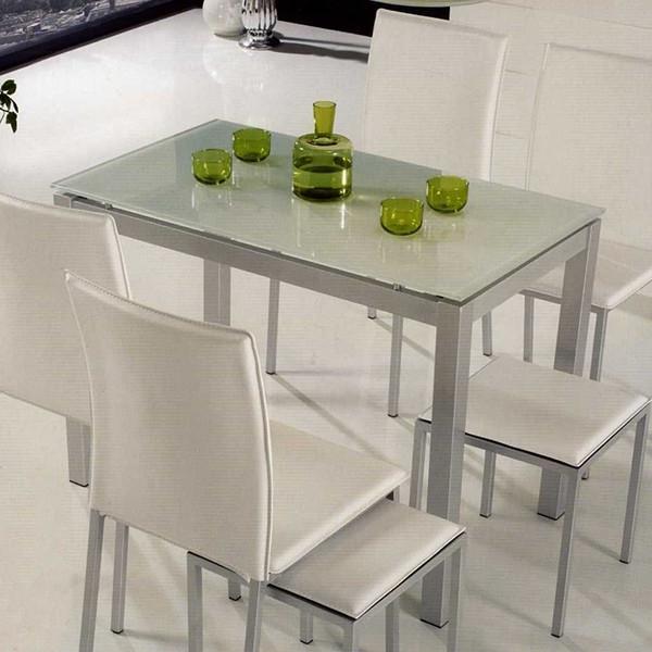 Mesa Cocina Q0d4 Mesa De Cocina Metalica Con Tapa De Cristal