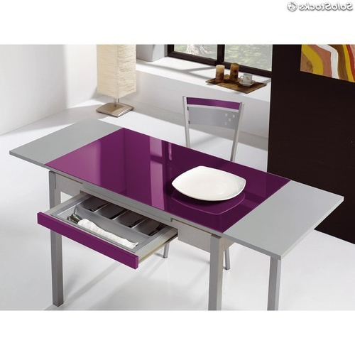 Mesa Cocina Rldj Mesa Cocina Extensible Cajon Cristal Colores