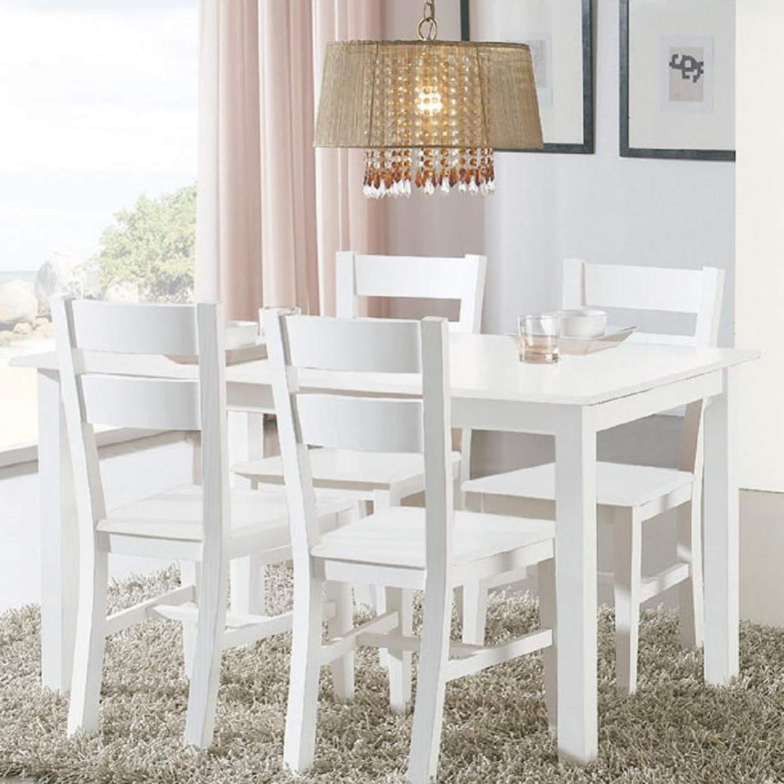 Mesa Comedor Blanca Extensible Dddy Muebles De Edor Con Mesa Extensible En Blanco Lacado Madera Maciza