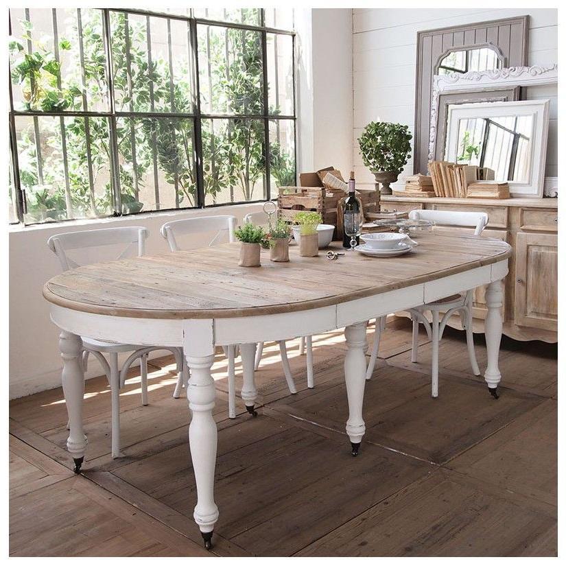 Mesa Comedor Blanca Extensible Drdp Prar Mesa Edor Extensible 126 326 Blanco Vintage Mueble