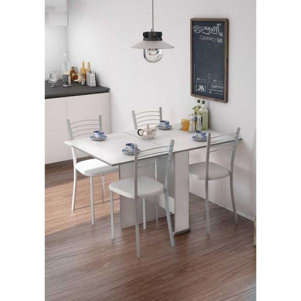 Mesa Comedor Blanca Extensible S5d8 Mesa Cocina Edor Salà N Oficina Extensible 2 Alas Blanca