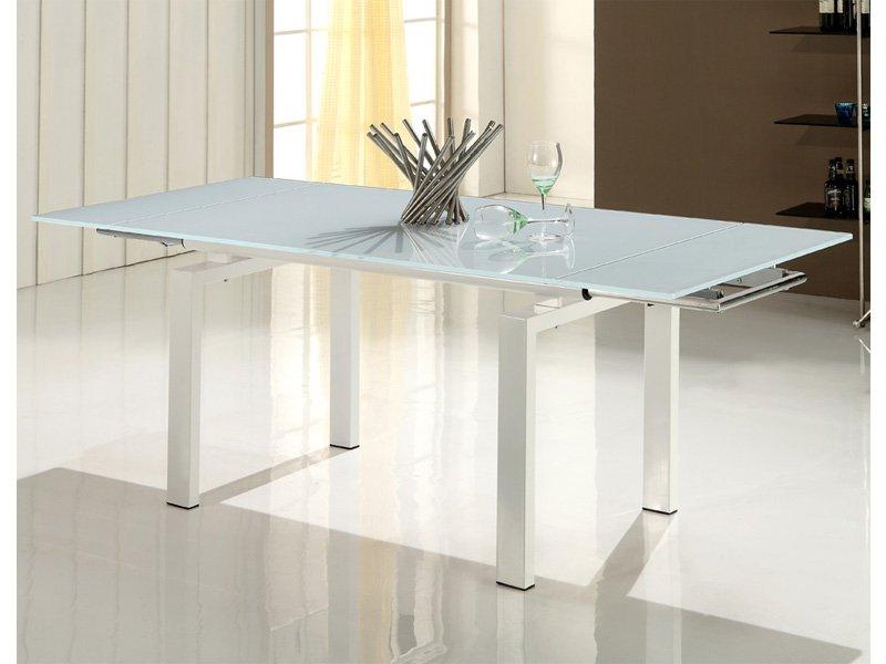 Mesa Comedor Blanca Extensible Txdf Mesa Blanca Moderna Para Edor Encimera De Cristal Extensible