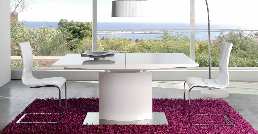 Mesa Comedor Blanca Extensible X8d1 Mesa De Edor Luxe Blanca Extensible 160 200 Cm Dh Dt 01 160