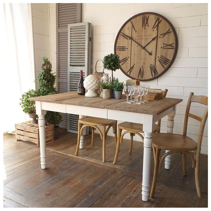 Mesa Comedor Blanca Y Madera 3id6 Prar Mesa Edor Extensible 90 180 Blanco Vintage Mueble
