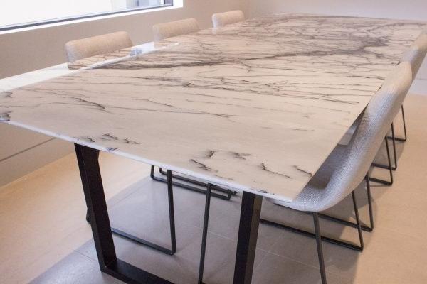 Mesa Comedor Marmol Qwdq Mesa Edor Marmol Carrara 28 800 00 En Mercado Libre