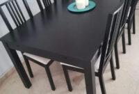 Mesa Comedor Negra Dwdk Mesa Edor Negra Ikea Extensible De Segunda Mano Por 120 En
