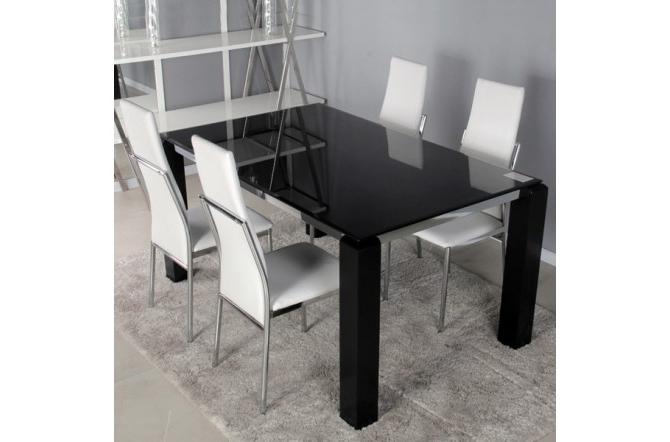 Mesa Comedor Negra X8d1 Mesa De Edor Barata Negra Rectangular De Cristal Templado En Negro