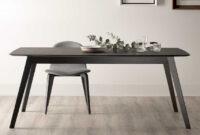 Mesa Comedor Negra Zwd9 Mesa Edor Extensible Aise Oval Negro Muebles Aguado