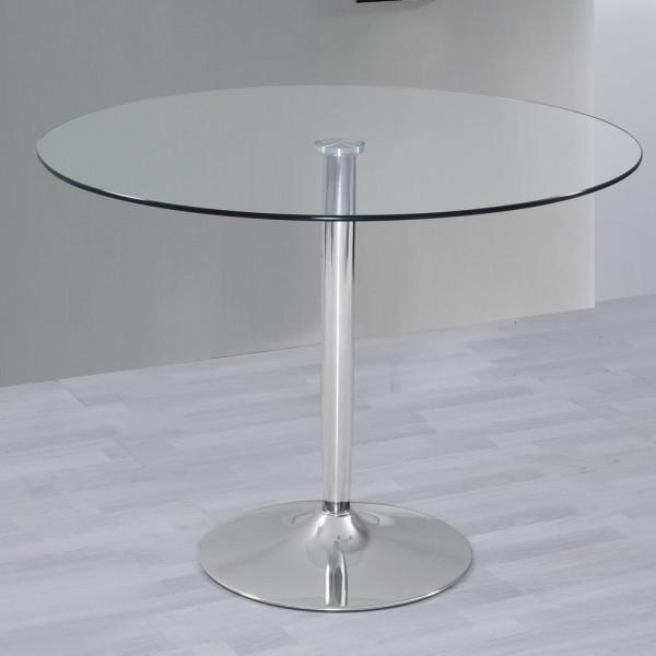 Mesa Comedor Redonda Cristal Drdp Mesa De Salon Edor Cocina Redonda De Cristal Y Base De Metal