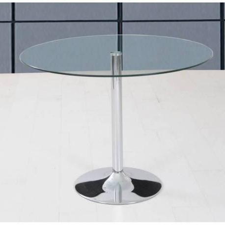 Mesa Comedor Redonda Cristal Q5df Mesa De Edor Redonda De 105 Cm En Cristal Templado Transparente