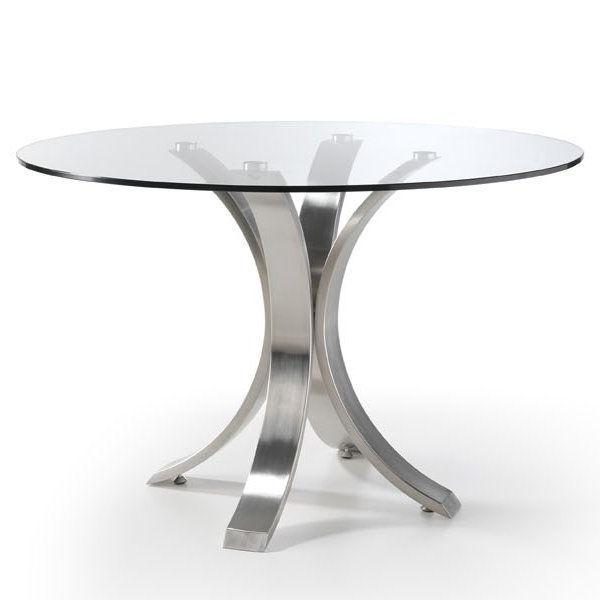 Mesa Comedor Redonda Cristal X8d1 Mesa De Edor Redonda Acero Mesas De Cocina Pinterest Table