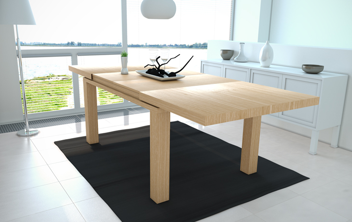 Mesa Comedor Roble Natural S5d8 Mia Home Mesa Extensible En Roble Natural