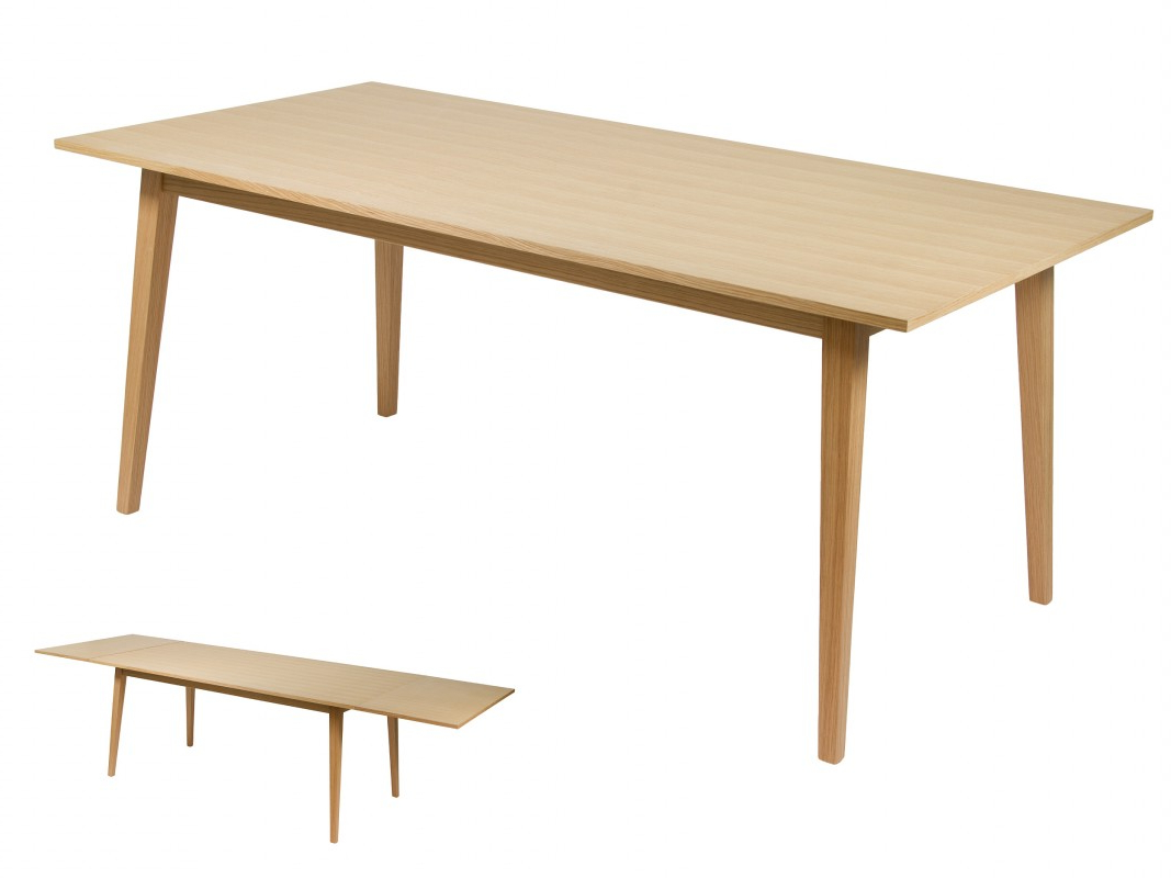 Mesa Comedor Roble Natural Whdr Mesa Edor Extensible Roble Y Mdf En Color Roble Natural