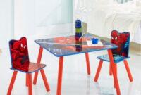 Mesa Con Sillas S1du Mesa Sillas Spiderman
