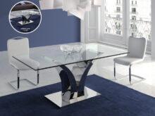 Mesa Cristal Comedor Jxdu Mesa Edor En Acero Y Cristal Templado Modelo Cala