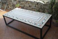 Mesa De Azulejos Para Jardin 87dx Mesa De Mosaico Para Jardin Piedra Fosil De Ronda Azulejos Marmol