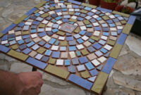 Mesa De Azulejos Para Jardin Bqdd Dos Mesas De Mosaico Paso A Paso Bricolaje