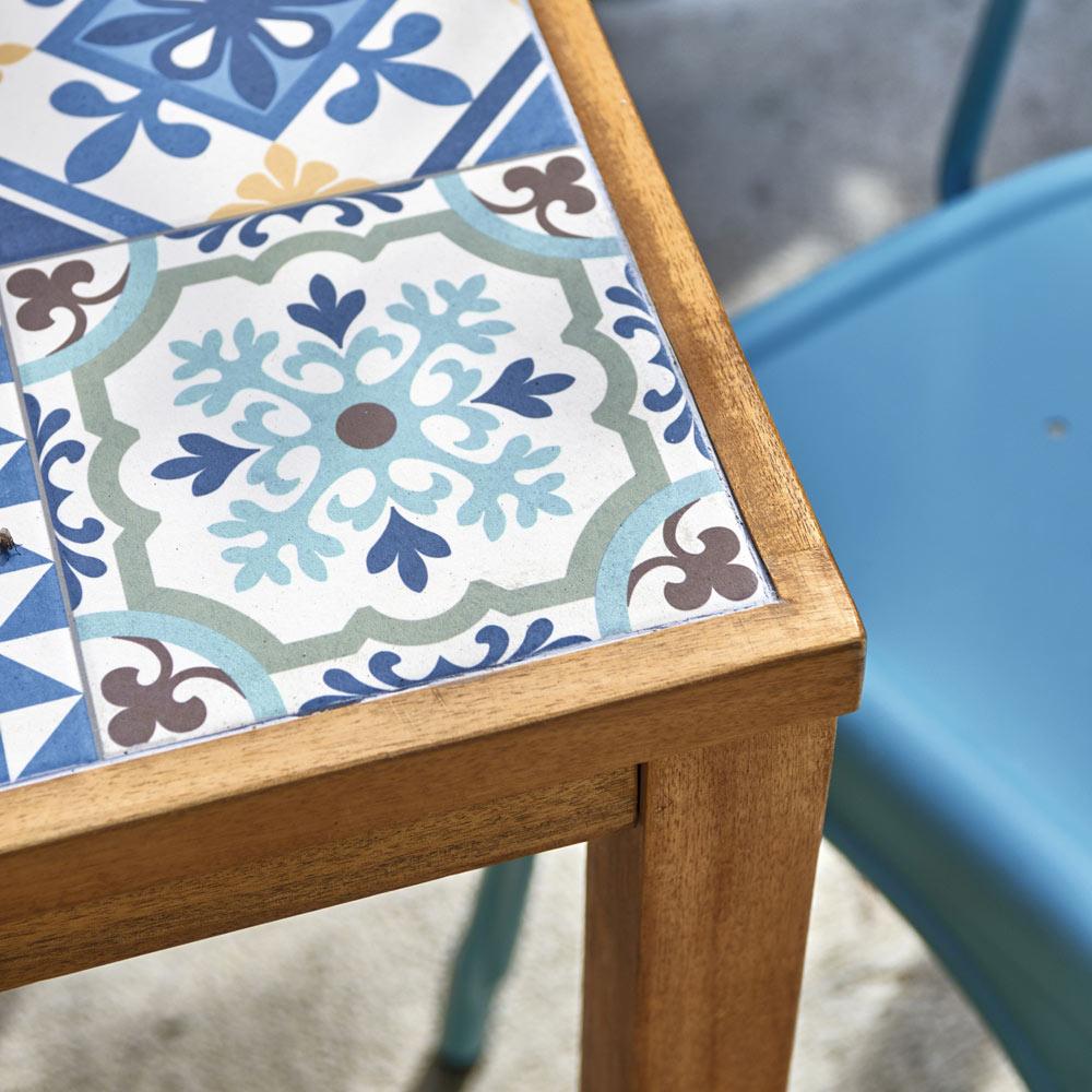 Mesa De Azulejos Para Jardin Fmdf Mesa De Madera De Acacia soho Cerà Mica Ref Leroy Merlin