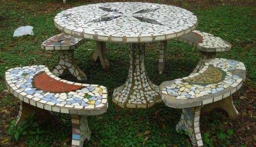 Mesa De Azulejos Para Jardin Fmdf Venta Mesas De Cemento Para Jardin Usadas En Buenos Aires