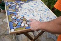 Mesa De Azulejos Para Jardin Nkde Dos Mesas De Mosaico Paso A Paso Bricolaje