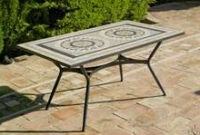 Mesa De Azulejos Para Jardin Q0d4 Muebles De Jardà N De forja Con Mesa Tablero Mosaico Online Muebles