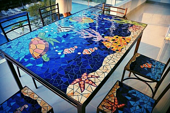 Mesa De Azulejos Para Jardin Tqd3 Conjuntos De Mesas Mosaicosvega