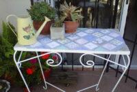 Mesa De Azulejos Para Jardin Tqd3 Mesa De Hierro Para Jardin Mesas Con Azulejos Pinterest Ideas
