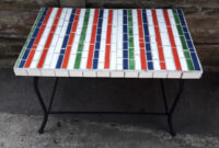 Mesa De Azulejos Para Jardin U3dh Mesa Para Jardin Revestida En Azulejos 3 000 00 En Mercado Libre