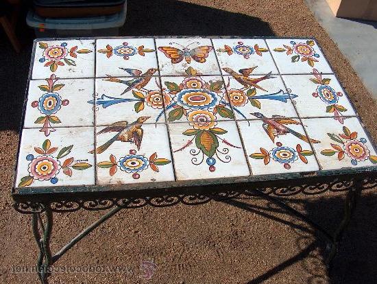 Mesa De Azulejos Para Jardin Xtd6 Antigua Mesa Baja De Hierro Para Jardà N Con Mos Prar Mesas