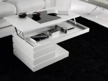 Mesa De Centro Blanca Lacada E9dx Mesa De Centro Elevable Blanco Lacado Muebles Xikara