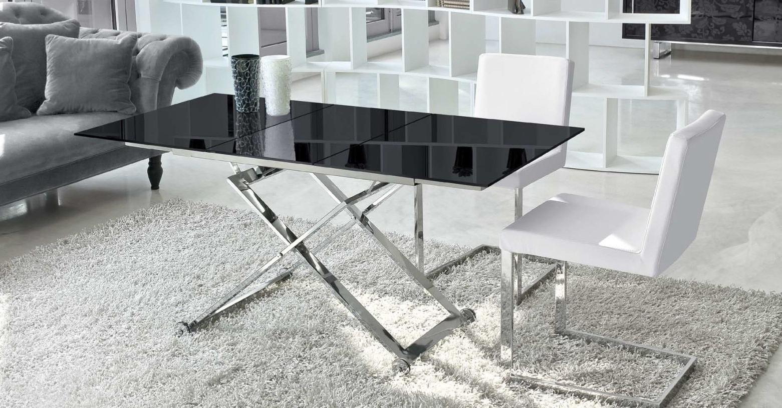 Mesa De Centro Cristal Elevable Qwdq Mesa De Centro Elevable Y Extensible Elba Cristal De à Mbar Muebles