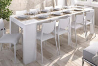 Mesa De Comedor Barata O2d5 Mesa Consola Extensible Moderna Y Barata De 51 Cm A 239 Cm En Blanco Brillo