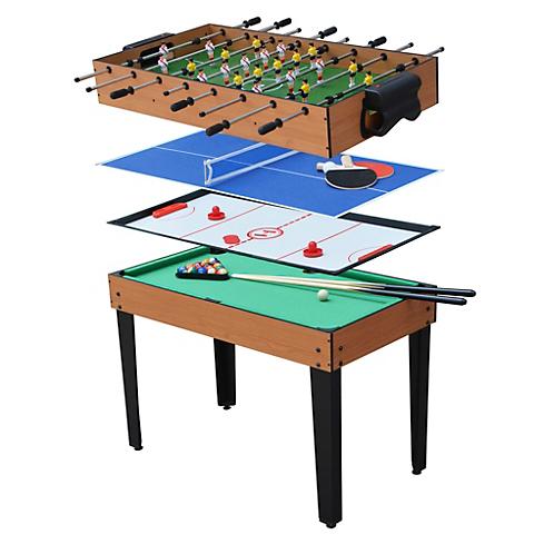 Mesa De Juegos Kvdd Mesa De Juegos 4 En 1 Fulbito Billar Hockey Y Tennis sodimac