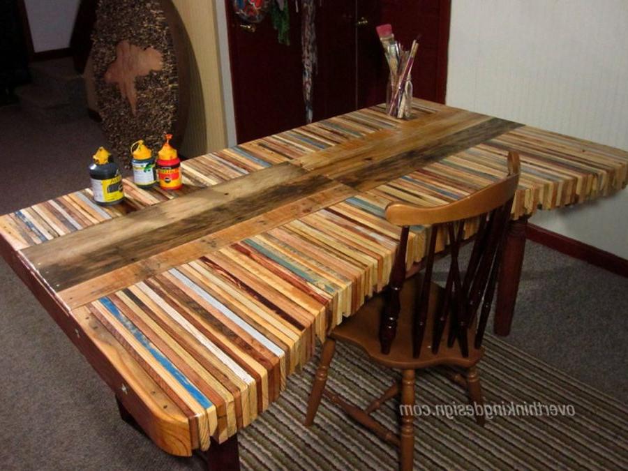 Mesa De Palet Drdp Una original Mesa Fabricada Con Palets Bricolaje