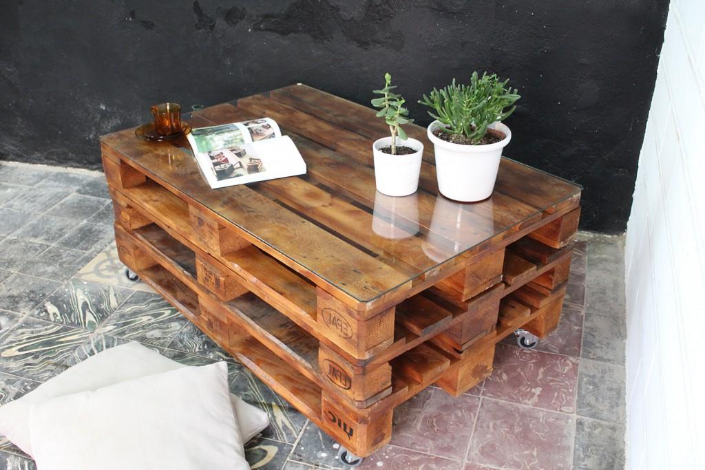 Mesa De Palet S1du Mulhacen Pallet Table Ecodeco Mobiliario