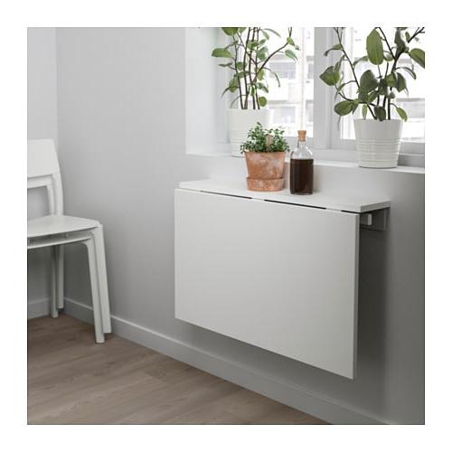 Mesa De Pared E6d5 norberg Mesa Abatible De Pared Blanco 74 X 60 Cm Ikea