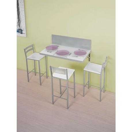 Mesa De Pared S1du Conjunto De Mesa Para Pared Y Taburetes De Cocina Modelo E