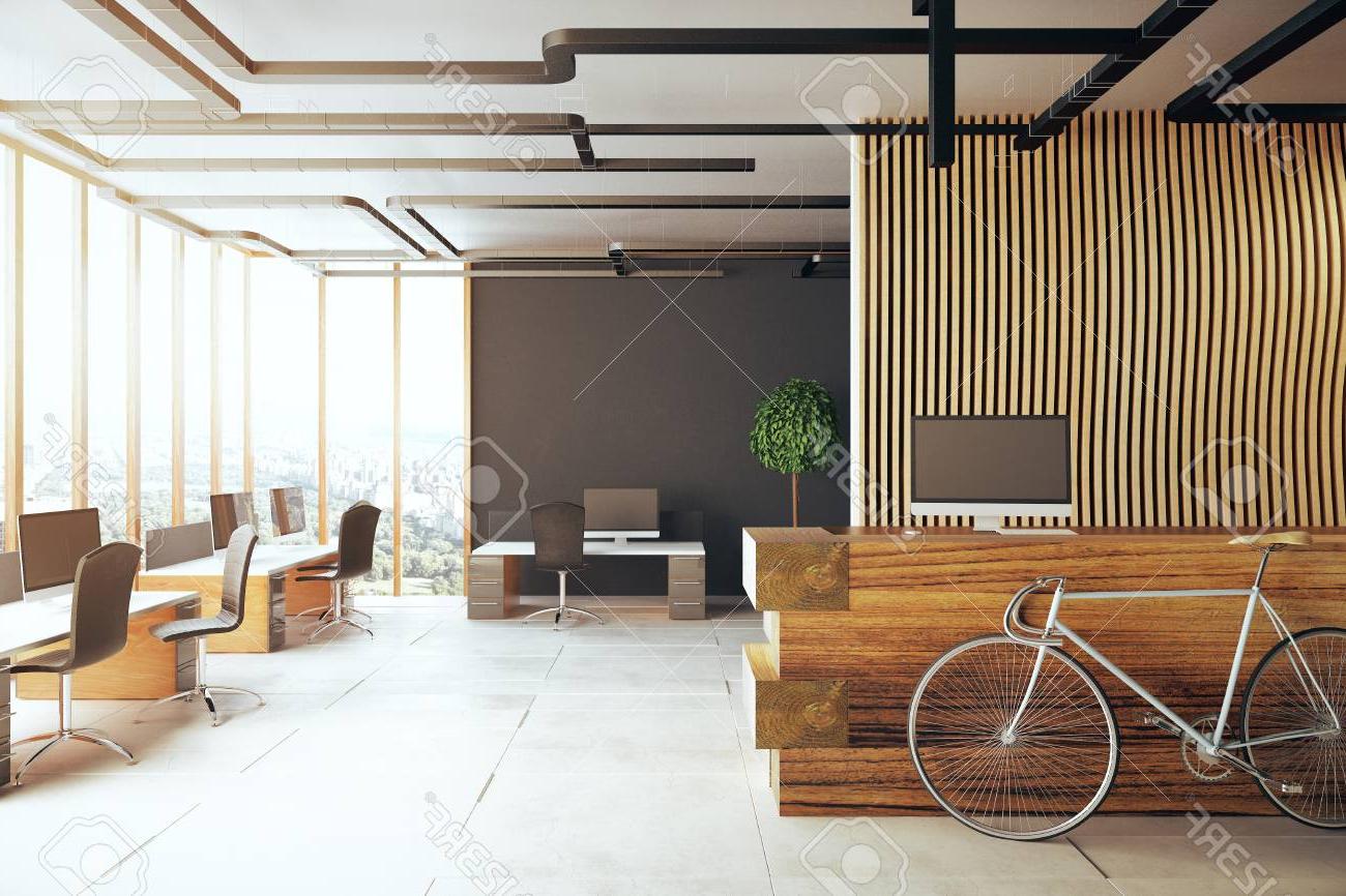 Mesa De Recepcion 3id6 Interior Creativo De La Oficina Con La Bicicleta Mesa De Recepcià N