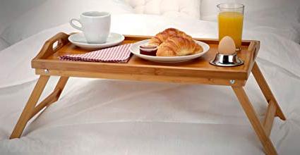 Mesa Desayuno Cama Fmdf Kib Mesa De Desayuno De Bambú Laptop Mesa Bandeja Madera
