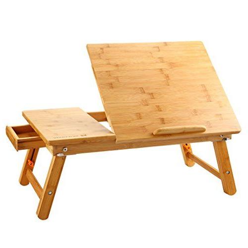 Mesa Desayuno Cama U3dh Mesa De Cama Para Portà Til Nnewvante Mesa Plegable Desayuno Cama Adjustable Escritorio ordenador Portatil Bambú 55 35cm
