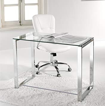 Mesa Despacho Cristal Kvdd Escritorio Mesa ordenador Estudio Oficina Despacho Cristal Y