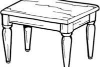 Mesa Dibujo Q0d4 Dibujo De Una Mesa